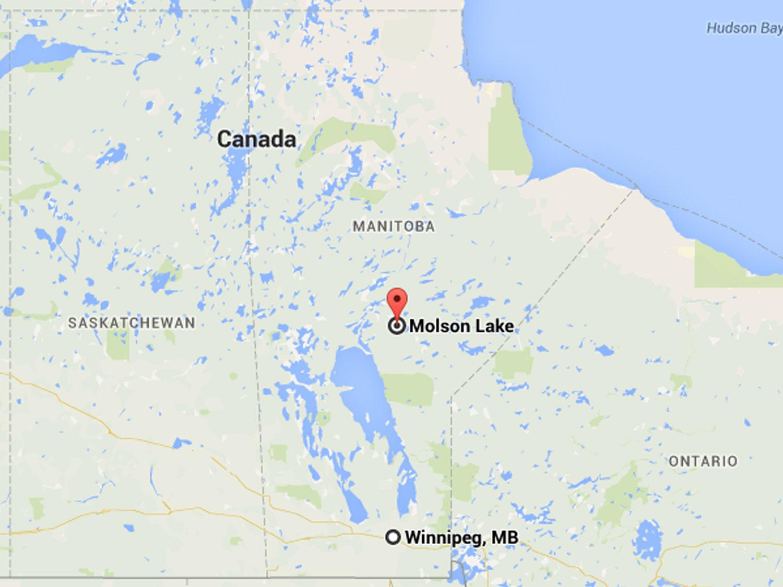 Molson Lake Map