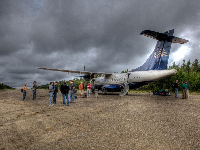 People Boarding Plane