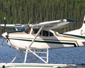 Pontoon Plane at the Molson Lake Lodge